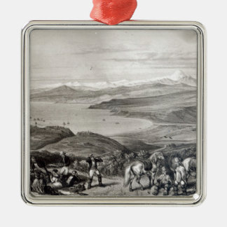 Distant View of the Aconcagua Volcano Christmas Ornament