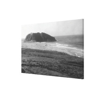 Distant View of the Point Sur Light Station Canvas Print