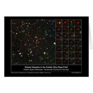 DistantGalaxiesInUltraDeepField-2006-12 Greeting Card