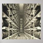 Distillery Barrel Racks 1905 Poster