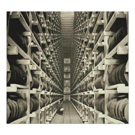 Distillery Barrel Racks 1905 Poster