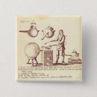 Distilling Equipment 15 Cm Square Badge