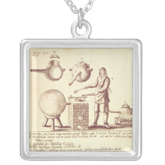 Distilling Equipment Silver Plated Necklace