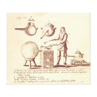 Distilling Equipment Stretched Canvas Print
