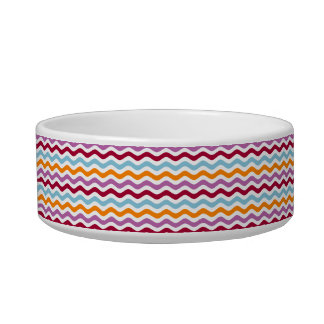 Distinct retro waves cat bowls