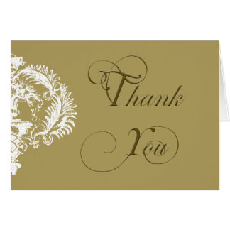 Distinction: Gold and White Damask Design Greeting Card
