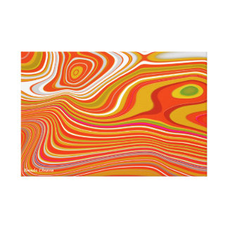 Distinction in Numerous Bright Colors Canvas Gallery Wrap Canvas