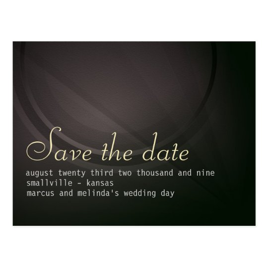 Distinction personalised Save the Date Card