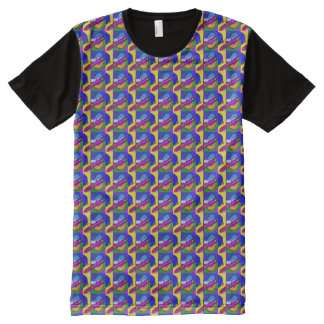 Distinctive All-Over Print T-Shirt
