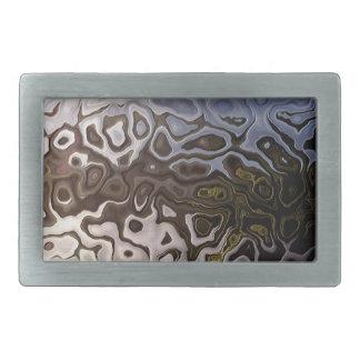 Distinctive Brown Grey Shimmering Snakeskin Effect Belt Buckles