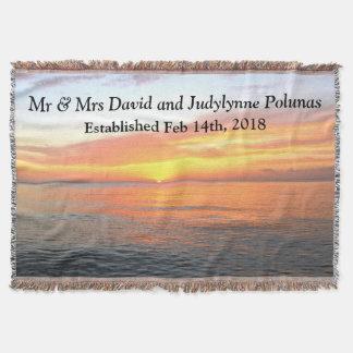 DISTINCTIVE PERSONALIZED SUNRISE WEDDING BLANKET