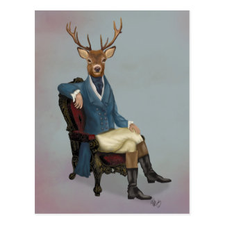 Distinguished Deer Full 3 Postcard