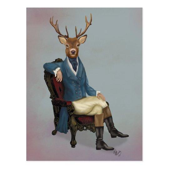 Distinguished Deer Full 3 Postcard