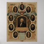 Distinguished Masons of the Revolution [?] Print