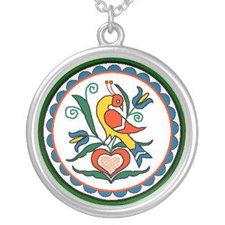 Distlefink (green) - necklace