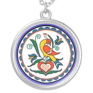 Distlefink (purple) - necklace
