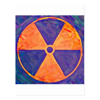 distorded nuke sign 2 postcard