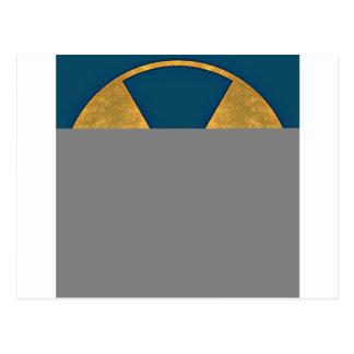 distorded nuke sign 3 post card