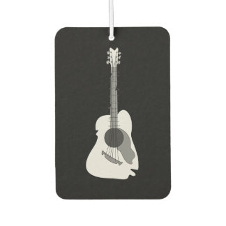 Distorted Abstract Acoustic Guitar Car Air Freshener