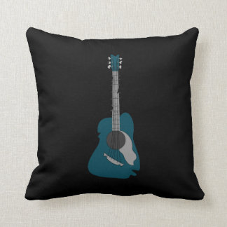 Distorted Abstract Acoustic Guitar Cushion