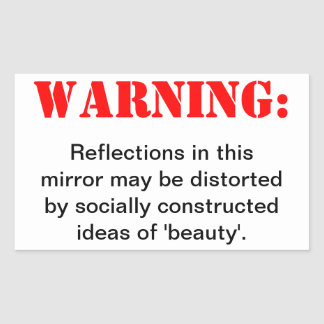 Distorted Beauty Rectangular Sticker