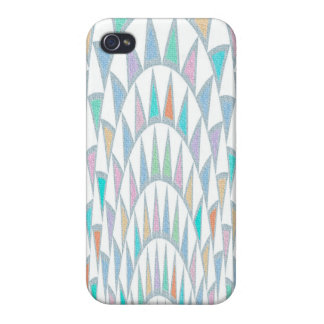 Distorted Triangles Pastel Pattern iPhone 4 Cases