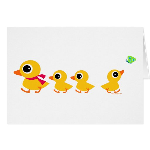 Distracted Duck Greeting Card