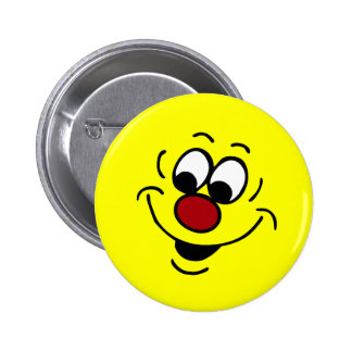 Distracted Smiley Face Grumpey 6 Cm Round Badge