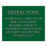 Distractions Posters
