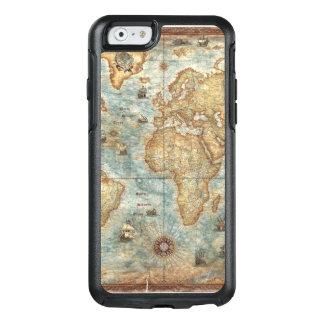 Distress Vintage antique drawn world map OtterBox iPhone 6/6s Case