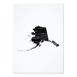 Distressed Alaska State Outline 13 Cm X 18 Cm Invitation Card