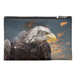 Distressed American Eagle Photography Print Travel Accessory Bag