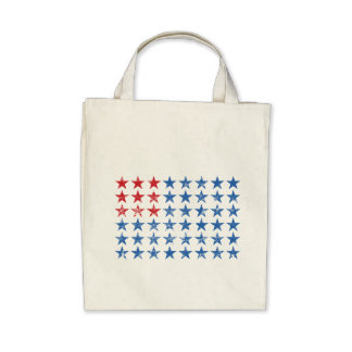 Distressed American Flag Canvas Bags