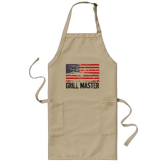 Distressed American flag BBQ apron | Grill master