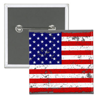 Distressed American Flag Button
