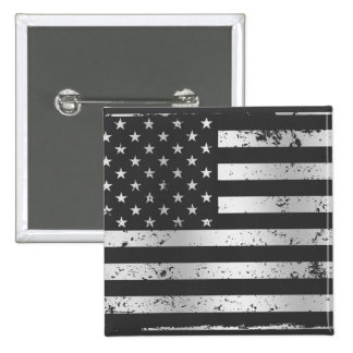 Distressed American Flag II Button