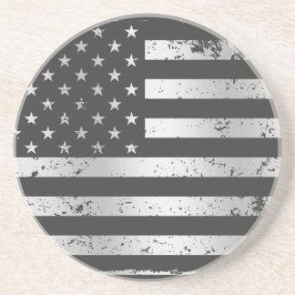 Distressed American Flag II Coaster
