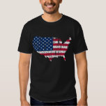 Distressed American Flag Map Tee Shirts