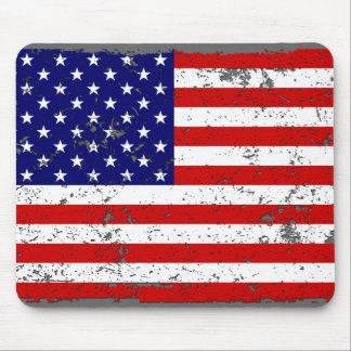 Distressed American Flag Mousepad