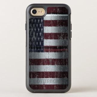 Distressed American Flag OtterBox Symmetry iPhone 8/7 Case