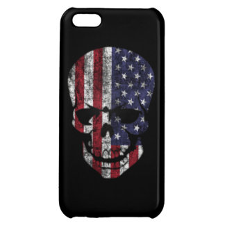 Distressed American flag Skull iPhone 5C Cover