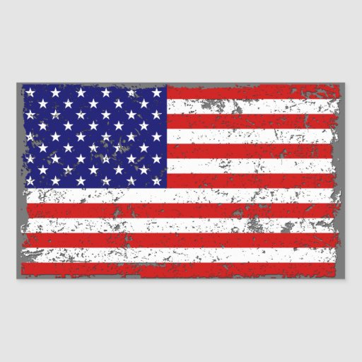 Distressed American Flag Sticker