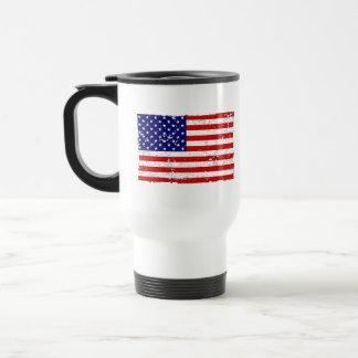 Distressed American Flag Travel Mug