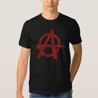 Distressed Anarchy Sign Tee Shirts