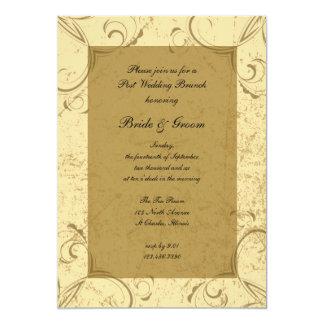 Distressed and Elegant Post Wedding Brunch 13 Cm X 18 Cm Invitation Card