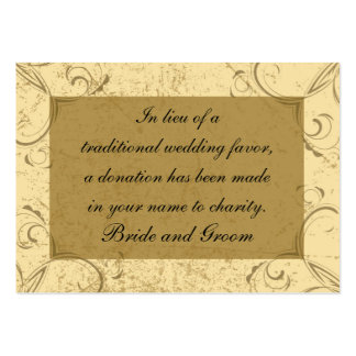 Distressed and Elegant Wedding Charity Favor Card Pack Of Chubby Business Cards