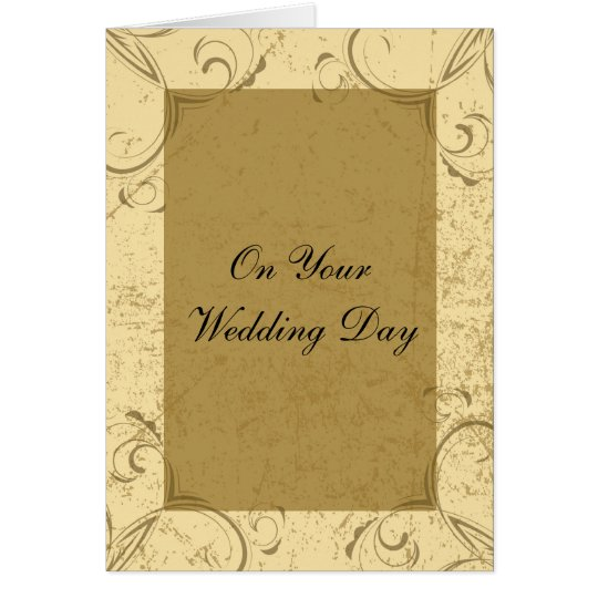 Distressed and Elegant Wedding Day Card
