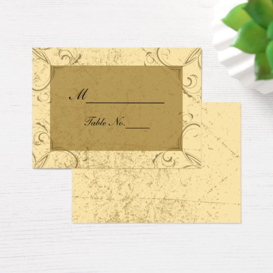 Distressed and Elegant Wedding Place Card
