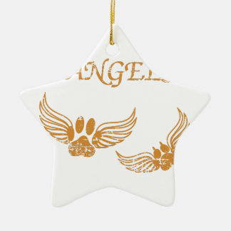 Distressed Angel Pet Paws Christmas Ornament