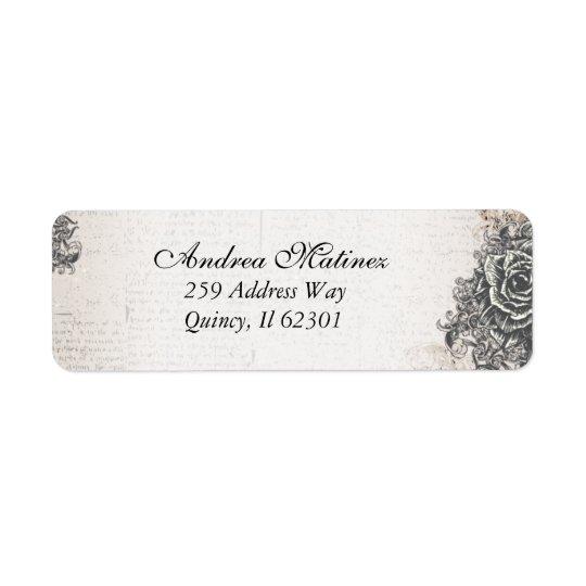 Distressed Antique Vintage Rose Address Labels